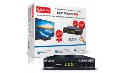 Ресивер DVB-T2 D-Color DC1002HD mini черный