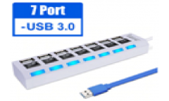 USB 3.0 хаб с выключателями, 7 портов, СуперЭконом, белый