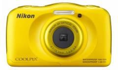 Цифровой фотоаппарат Nikon CoolPix S33 желтый (+рюкзак)
