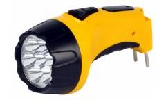 Фонарь SmartBuy аккумуляторый светодиодный 7 Led желтый
