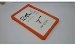 Универсальная силиконовая накладка на планшет 10 оранжевая с подставкой
