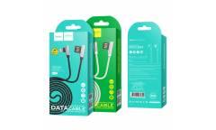 Кабель USB Hoco U42 exquisite steel lightning charging data cable white