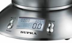 Весы кухонные электронные Supra BSS-4095 макс.вес:5кг нержавейка