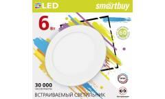 Встраиваемый (LED) светильник DL Smartbuy-6w/6500K/IP20 _118х10мм (врезн.отв.103мм)