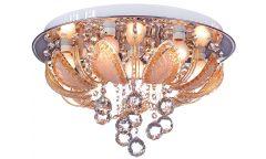 Люстра_DE FRAN_ ML4-0024-07CH _LED +E14 _7*60Вт Зефир,   3 режима, хром+кристаллы d450mm