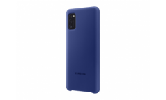 Чехол (клип-кейс) Samsung для Samsung Galaxy A41 Silicone Cover синий (EF-PA415TLEGRU)