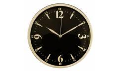 Часы настенные аналоговые Бюрократ WallC-R25M черный