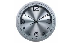 Часы настенные аналоговые Бюрократ WallC-R05P серебристый