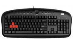 Клавиатура A4Tech KB-28G PS/2 игровая мультифункциональная черная