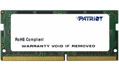 Память DDR4 4Gb 2400MHz Patriot PSD44G240082S RTL PC4-19200 CL17 SO-DIMM 260-pin 1.2В dual rank