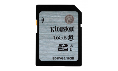 Карта памяти SDHC Kingston 16GB Class 10 UHS-I (45MB/s)