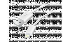 Кабель USB Krutoff Lightning Classic (0,2m) белый
