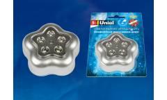 Светильник-ночник Uniel DTL-359 Цветок-B/Silver/5LED/3АAA (в комплект не входят)