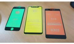 _Защитное стекло Base Xiaomi Redmi Note 9, 2.5D, 0.2 мм, весь экран, полный клей, техпак Черный