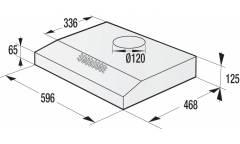 Вытяжка встраиваемая Gorenje WHU629EB/S черный управление: кнопочное (1 мотор)