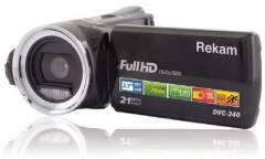 """Видеокамера Rekam DVC-340 черный IS el 2.7"""" 1080p SD+MMC Flash/Flash"""
