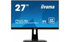 "Монитор Iiyama 27"" XUB2792UHSU-B1 черный IPS LED 4ms 16:9 DVI HDMI M/M матовая HAS Pivot 1000:1 300cd 178гр/178гр 3840x2160 DisplayPort QHD USB 6.4кг"