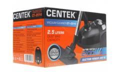 Пылесос Centek CT-2514 (черн) 2100/380Вт, мешок2,5л рег мощности, тканевый мешок, телескоп. трубка