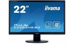 "Монитор Iiyama 21.5"" ProLite E2283HS-B3 черный TN+film LED 1ms 16:9 HDMI M/M матовая 1000:1 250cd 170гр/160гр 1920x1080 D-Sub DisplayPort FHD"