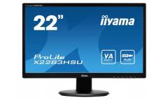 "Монитор Iiyama 21.5"" X2283HSU-B1DP черный VA LED 5ms 16:9 DVI M/M матовая 250cd 178гр/178гр 1920x1080 D-Sub DisplayPort FHD USB 2.8кг"
