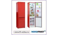 Холодильник Nordfrost NRB 110NF 832 красный (двухкамерный)