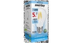 Светодиодная (LED) Лампа FIL (прозрачная) Smartbuy-A60-5W/4000/E27