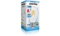 Светодиодная (LED) Лампа FIL (прозрачная) Smartbuy-A60-8W/4000/E27