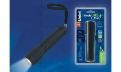Фонарь Uniel S-LD038-C Black прорезин корпус 0,5 Watt LED 3хААА н/к черный