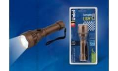 Фонарь Uniel S-LD044-C Brown пластик 0,5 Watt LED 2хАА н/к коричневый
