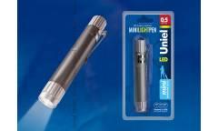 Фонарь Uniel S-LD013-CB Silver алюм корпус 0,5 Watt LED 3хLR44 в/к серебристый