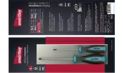 Набор отверток 4 штуки, шлицевые и крестовые, намагниченный наконечник, CR-V, Smartbuy Tools