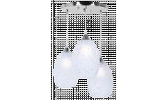 Люстра-Подвес_DE FRAN_ SP1-0941-3CH _E27 _3*60Вт _хром, стекло матовое, белое, d38*h22 см
