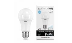 Лампа светодиодная GAUSS _A60_10W/6500K_E27 _Стандарт
