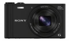 "Фотоаппарат Sony Cyber-shot DSC-WX350 черный 18.2Mpix Zoom20x 3"" 1080p MS Pro/microSDXC CMOS Exmor R IS opt 5minF 10fr/s HDMI/WiFi/Li-Ion"