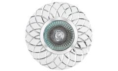 Светильник точечный_DE FRAN_ FT9955 SLWH MR16 серебро+белый