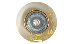 Светильник точечный_DE FRAN_ A033 SNG MR16 сатин-никель+золото