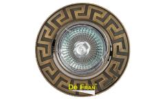Светильник точечный_DE FRAN_ FT 116A GAB MR16 зел.античное золото