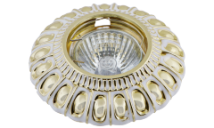 Светильник точечный_DE FRAN_ FT 1216 WHG MR16  белый с золотом