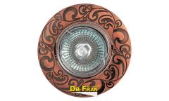 Светильник точечный_DE FRAN_ FT 182AK RAB MR16 красн.античное золото