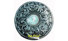 Светильник точечный_DE FRAN_ FT 420 MR16 гипс серебро, d=180mm