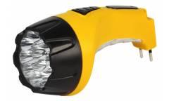 Фонарь SmartBuy аккумуляторный светодиодный 15+10 LED с прямой зарядкой желтый (SBF-89-Y)/60