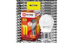 Лампа светодиодная IN HOME LED-ШАР-VC 11Вт 230В Е27 3000К 820Лм