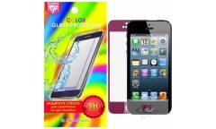 Защитное стекло цветное Krutoff Group для iPhone 5/5S на две стороны (purple)