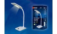 Светильник настольный Uniel LED TLD-545 Black-White/LED/350Lm/3500K 4W мех выкл