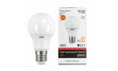 Лампа светодиодная GAUSS _A60_07W/3000K_E27 _Стандарт