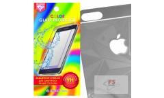 Защитное стекло цветное Krutoff Group для iPhone 5/5S на две стороны с 3D-рисунком (black)