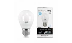 Лампа светодиодная GAUSS _G45_8W/6500K_E27 _шар