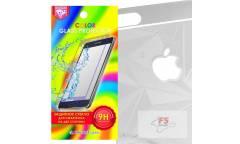 Защитное стекло цветное Krutoff Group для iPhone 6/6S на две стороны с 3D-рисунком (silver)