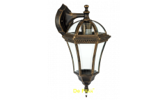 """Светильник сад.-парк._DE FRAN_ EL-640DN E27 60Вт IP44 металл чернен.зол., """"Дворянский"""" вниз"""