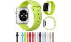 Ремешок Smart Apple Watch Sport 42 mm силиконовый, желтый (упаковка пакет)